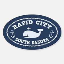 Rapid City Whale Watching Sticker (Oval)