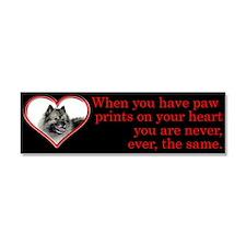 Keeshond Paw Prints Car Magnet 10 x 3