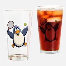 Tennis Penguin Drinking Glass
