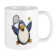Tennis Penguin Mug