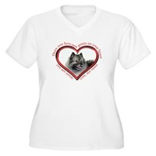 Keeshond Paw Prints Plus Size T-Shirt