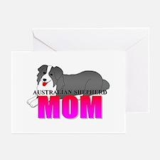 Australian Shepherd Mom Greeting Cards (Pk of 10)