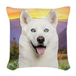meadow2.png Woven Throw Pillow