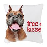 Free Kisses Woven Throw Pillow
