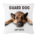 Guard Dog Woven Throw Pillow