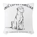 Vintage Labrador Woven Throw Pillow
