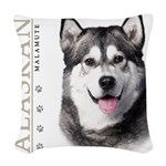 portrait1.png Woven Throw Pillow