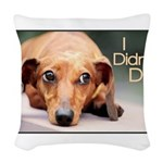 didntdoit.png Woven Throw Pillow