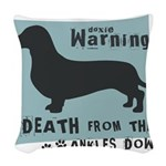 death4.png Woven Throw Pillow