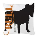 grungesilhouette.png Woven Throw Pillow
