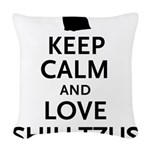 keepcalm.png Woven Throw Pillow