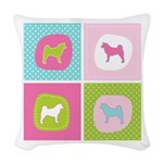 colorblock3.png Woven Throw Pillow