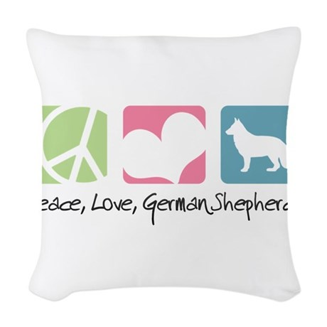 peacedogs.png Woven Throw Pillow
