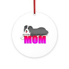 Australian Shepherd Mom Ornament (Round)