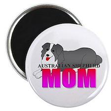 """Australian Shepherd Mom 2.25"""" Magnet (10 pack)"""