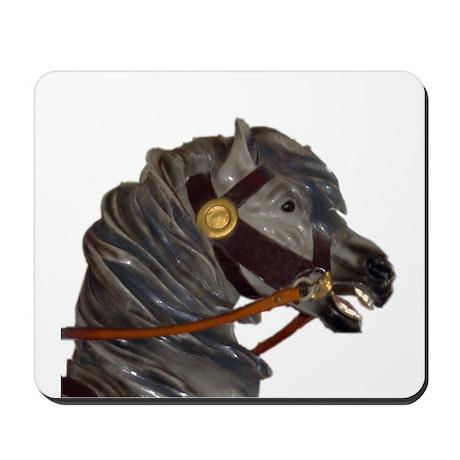 gray carousel horse Mousepad