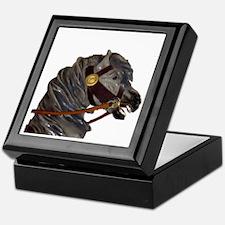 gray carousel horse Keepsake Box