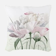 Beautiful Peony Painting Woven Throw Pillow