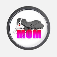 Australian Shepherd Mom Wall Clock