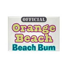Orange Beach-Beach Bum Rectangle Magnet