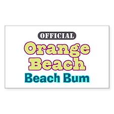 Orange Beach-Beach Bum Decal