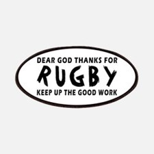 Dear God Thanks For Rugby Patches