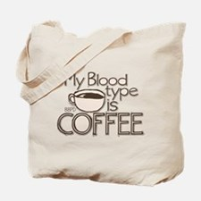 Blood Type Coffee Tote Bag