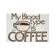 Blood Type Coffee Rectangle Magnet