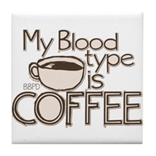 Blood Type Coffee Tile Coaster