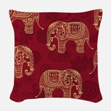 Beautiful Elephant Pattern Woven Throw Pillow