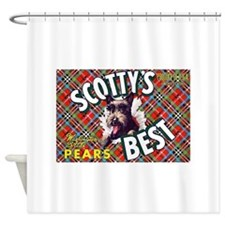 Antique Scottish Terrier Pears Fruit Label Shower