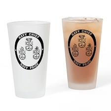Navy Pride Drinking Glass