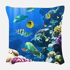 Ocean Life Woven Throw Pillow