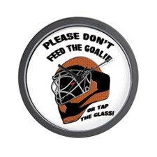 Don't Feed the Goalie Wall Clock