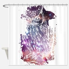 Cosmic Owl Shower Curtain