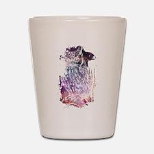Cosmic Owl Shot Glass