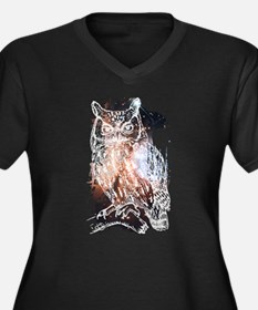 Cosmic Owl Plus Size T-Shirt