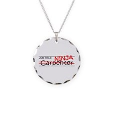 Job Ninja Carpenter Necklace Circle Charm
