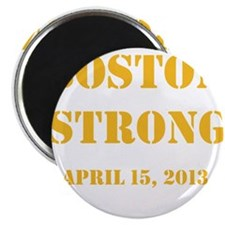 """Boston Strong Gold 2.25"""" Magnet (100 pack)"""