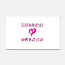 Boston Strong Pink Heart Car Magnet 20 x 12