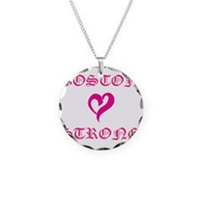 Boston Strong Pink Heart Necklace