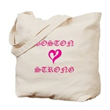 Boston Strong Pink Heart Tote Bag