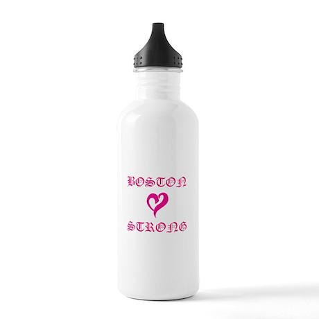 Boston Strong Pink Heart Water Bottle