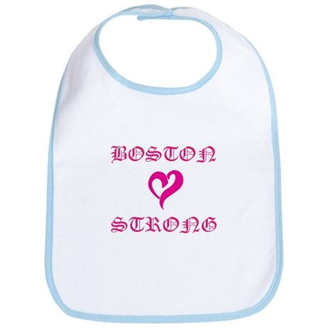 Boston Strong Pink Heart Bib