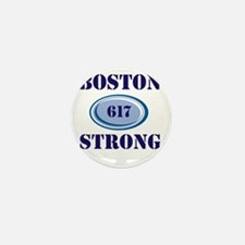Boston Strong 617 Mini Button