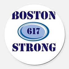 Boston Strong 617 Round Car Magnet