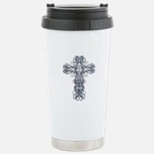 Wire Cross with Miraculous Medal Travel Mug