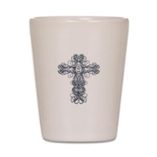Wire Cross with Miraculous Medal Shot Glass