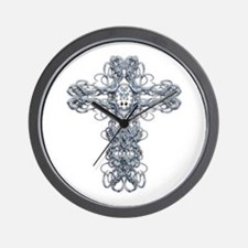 Wire Cross with Miraculous Medal Wall Clock
