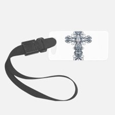 Wire Cross with Miraculous Medal Luggage Tag